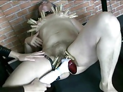Granny submits to dominatrix in femdom video tubes
