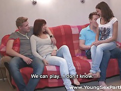 Young sex parties - calling a friend for a sex party tubes