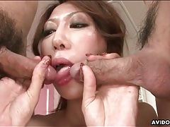 Skinny japanese milf spit roasted hard tubes