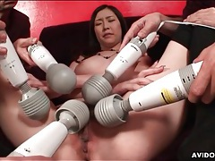 Many vibrators pleasure this japanese girl tubes