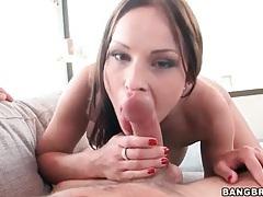 Big tits pornstar abbie cat sucks his dick tubes