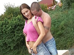Young busty claire 69ing outdoors tubes