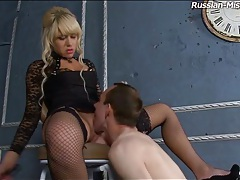 He eats out sexy ass of blonde mistress tubes