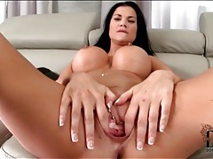 Pierced vagina fucked slowly by big cock tubes