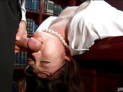 Boss face fucks his japanese secretary tubes