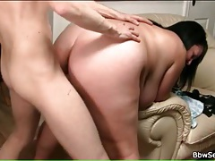 Fat girl gets fucked hard from behind tubes