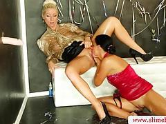 Classy lesbians at the gloryhole tubes