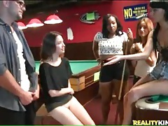 Amateur sucks dick in the pool hall tubes