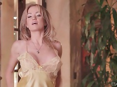 Big breasts angela sommers in satin lingerie tubes