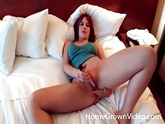 Amateur strips off her pants and toys her ass tubes