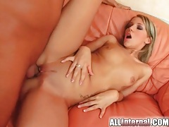 Bubbly creampie leaks out of her vagina tubes