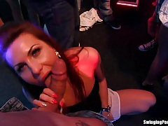 Sexy party chicks fucking in the club tubes
