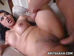 Exciting asian dolly mika tan enjoys rough ass pounding tubes