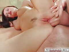 Anal dildo and his big cock fuck this butt tubes