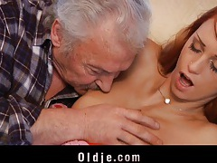 Old guy  casting  with erika fontes's wet pussy tubes