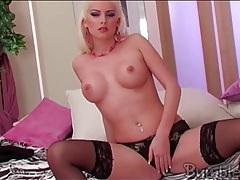 Bleach blonde katerina ulmanova in lingerie tubes