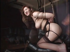 Big breasted japanese chick tied up by her man tubes