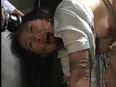 Submission to bondage makes japanese girl suffer tubes