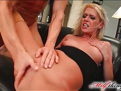 Blonde mom in sexy stockings fucked hard tubes