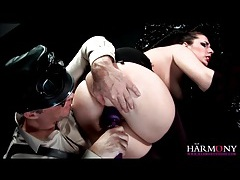 Master has slut in gloves suck his cock tubes