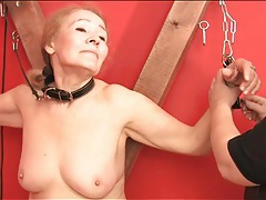 Bbw dominatrix plays with two submissives tube