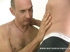 Sexy daddy breed his friends ass bareback style tubes