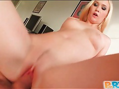 Horny blonde sits on dick and rides it tubes