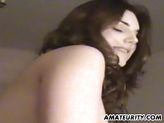 Amateur girlfriend sucks and fucks in pov with cum tubes