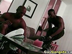 Tight abs on two black guys having anal sex tubes