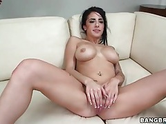 Long dick fucks wet cunt of tattooed babe tubes
