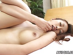Japanese babe aki gets fingered close up uncensored tubes