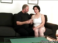 Old guy fucks toy into his sexy wife tubes