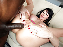 White cunt grinds on black cock tubes