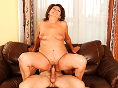 Mature lady loves riding dick tubes