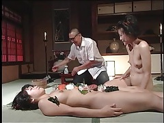 Kinky food play in his japanese fantasy video tubes