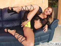 Long cock slowly fucks ass of cute blonde tubes