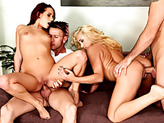 Ass and cunt blasting group sex tubes