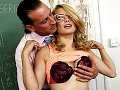 Teacher eats out sexy teen tubes