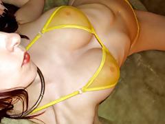 Shesnew tattooed redhead kajira striptease solo dildo tubes