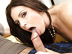 Seductive milf blows him tubes