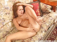 Sierra rubbing and fingering her throbbing pussy tubes