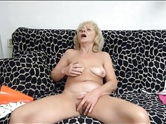 Sexy mature fondles tits and masturbates tubes