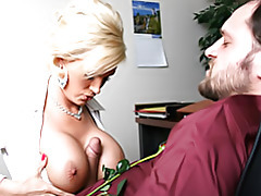 Office slut has huge tits tubes