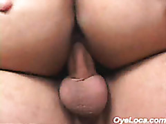 after riding like a pro this cute latina gets facialized with hot goo tubes