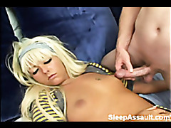 Patricia is fucked by horny guy while she is sleeping tubes