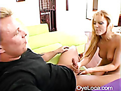 busty blonde latina riding a muscled guys cock tubes