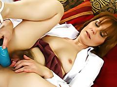 Mature using her dildo tubes