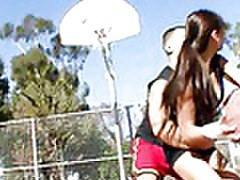 busty Asian cutie getting fucked hard by her basketball coach tubes