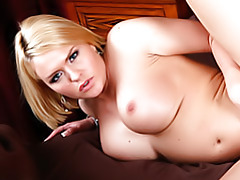 Shaved pussy blonde hammered tubes