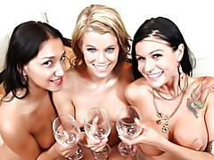 Girls want glasses of cum tubes